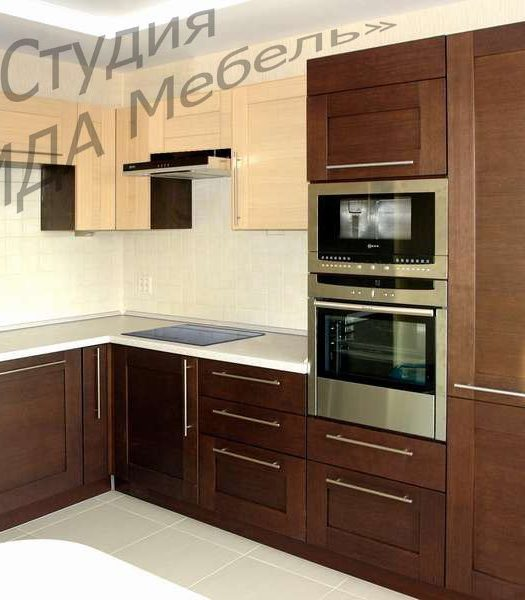 """Комбинированная кухня """"ЭЛЬБА - КОРТИНА"""""""
