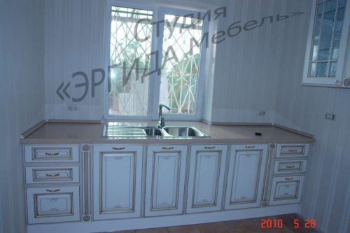 Кухня Афина с фасадами из массива ясеня