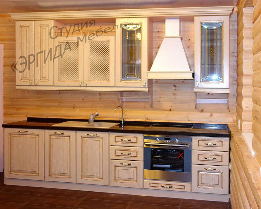Кухня Позитано со столешницей из искуственного камня