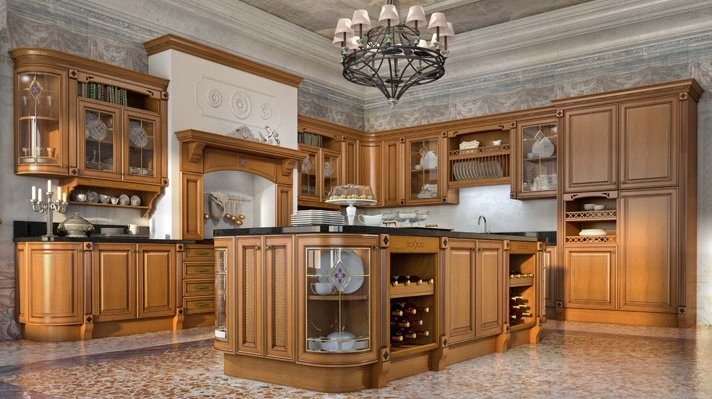 Кухня TRIESTE, массив Red Alder