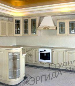 """Кухня с итальянскими фасадами из массива """"Позитано"""""""