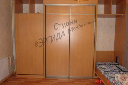 Шкаф-кровать, в центре шкаф-купе