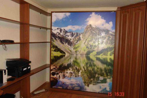 Шкаф кровать с фотопечатью на фасаде