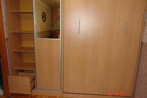 Шкаф купе с выкатными ящиками + шкаф кровать