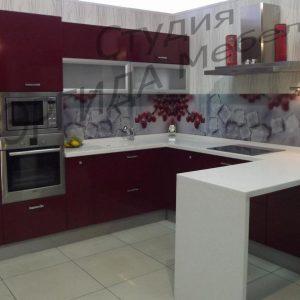 """Выставочный образец кухни """"Колор БОРДО"""""""