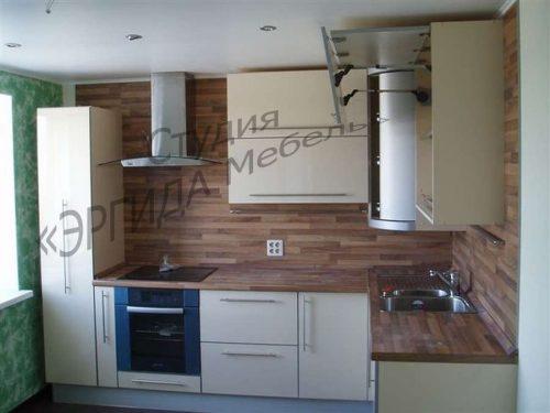 Кухня с ПУШ-полкой, складным подъемником и пеналом