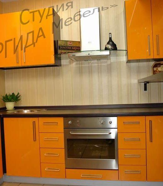 Кухня Апельсин с фасадами из пластика