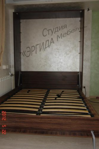 Шкаф-кровать, цвет - олива шоколад