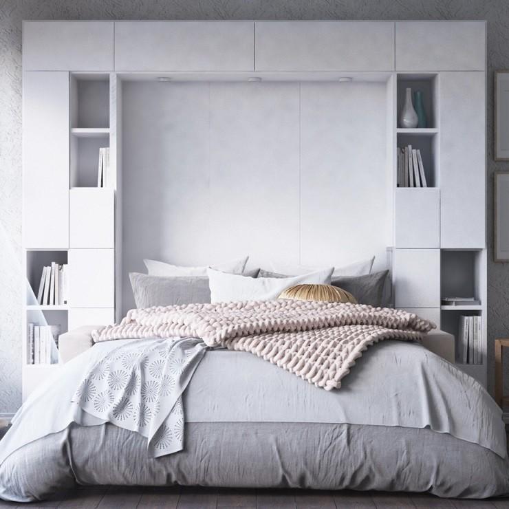 шкафы со встроенной кроватью